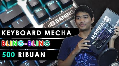 Digital Alliance K1 Meca Tkl Rgb mechanical keyboard bling bling murah ga goyang goyang