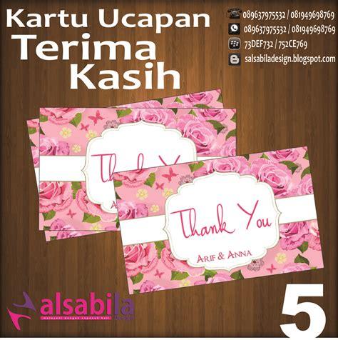 desain kartu ucapan di souvenir pernikahan harga kartu ucapan terima kasih thanks card untuk di