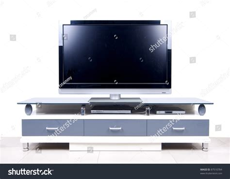 modern white tv cabinet modern white tv cabinet stock photo 87510784