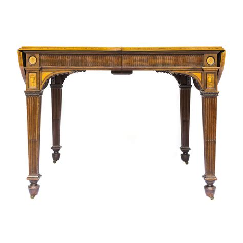 Library Table For Sale by Superb Large 19th Century Neoclassical Mahogany And
