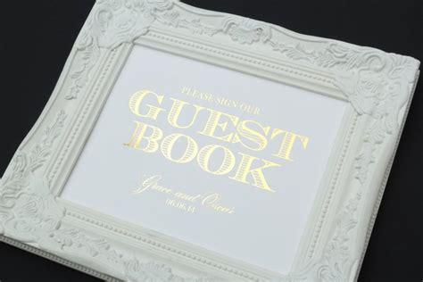 layout guest book guest book wedding sign 8 x 10 gold foil wedding sign
