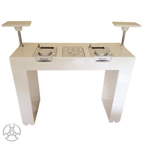Ikea High Table Dj Booth Finished In White For Cdj S Or Turntables And Mixer