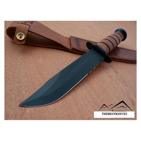 kabar fighter ka bar usmc fighter serrated ka1218 couteau de combat