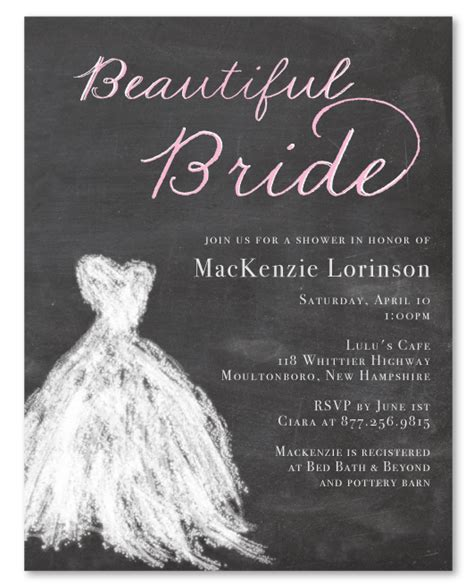 chalkboard bridal shower invitations for chalkboard bridal invitations