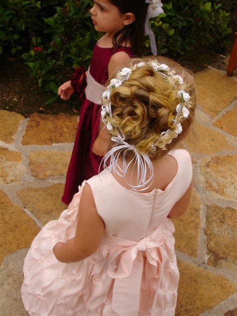 hair cut for ladies in garland 17 best images about flower girl hair on pinterest pink