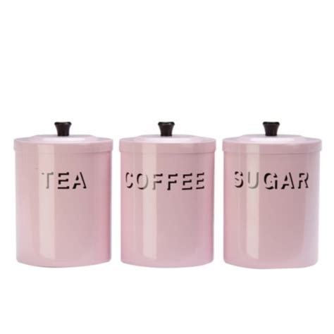 shabby chic pink tea coffee sugar canisters kitchen accessorie review compare prices buy