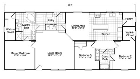 floorplan or floor plan model ph28603a manufactured home floor plan or modular