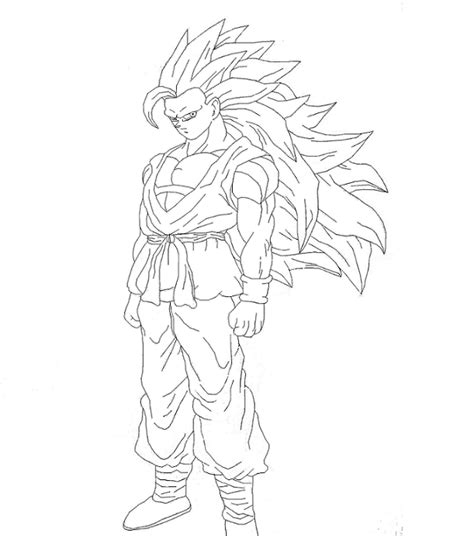 goku ss3 coloring pages mobile goku ssj3 coloring pencil coloring pages