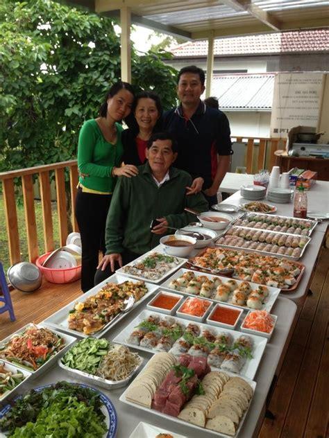 asian buffet table party pinterest