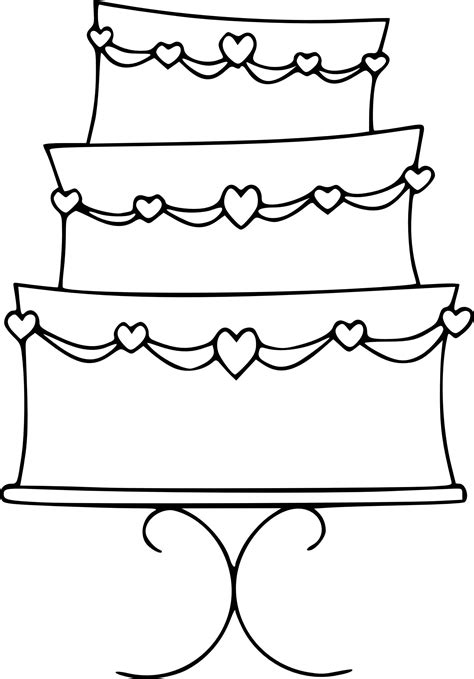 free coloring page of a cake wedding cake color pages free printable 18 of 20
