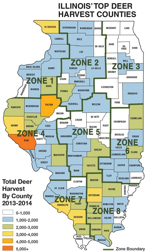 illinois population density map whitetail deer populations by state