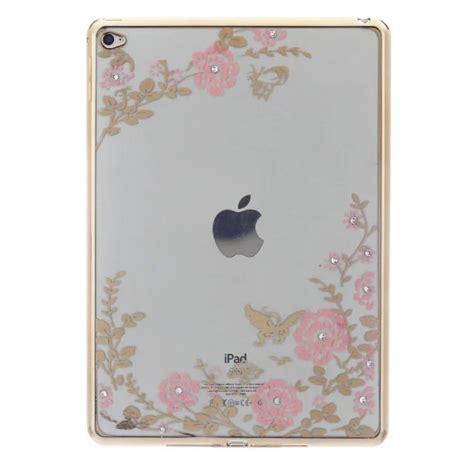 Secret Garden Gold Frame for funda air 2 slim floral soft tpu plating frame secret garden with for