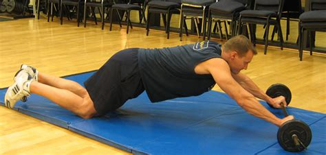 barbell abdominal rollouts abs exercise guide with photos