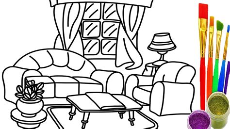drawing room colour games how to draw living room coloring pages drawing learn