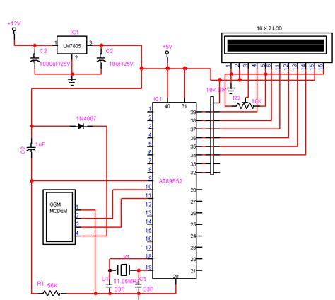 modem circuit diagram circuit diagram for interfacing sim300 gsm modem to