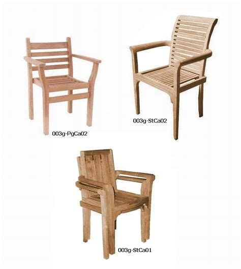 Kursi Stacking Chair teak wood furniture manufacturer jepara teak stacking