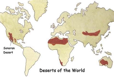america map deserts deserts of the world a taste of the deserts