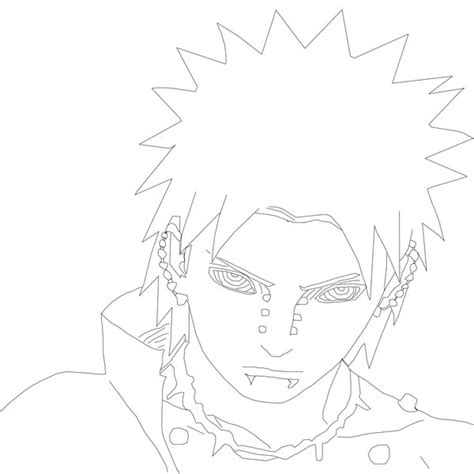 pain naruto coloring pages pain lineart naruto 441 by mackbotk on deviantart