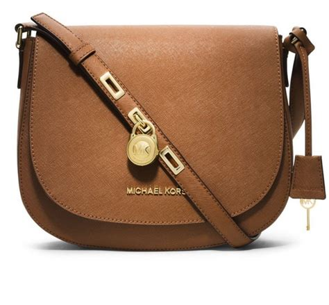 Mk Hamilton Sling michael kors hamilton leather large messenger bag in luggage visuall co
