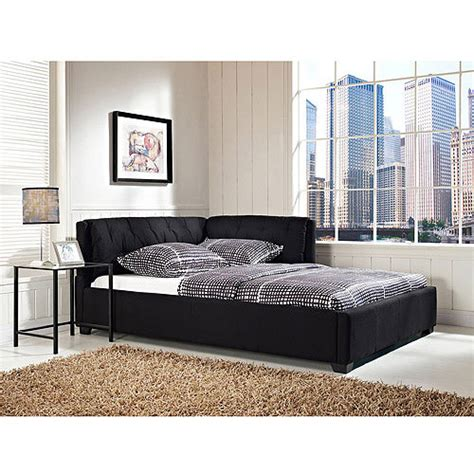 black full bed full bed daybed lounge sofa platform black reversible