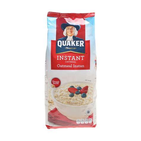 Quaker Oatmeal Instan Membantu Menurunkan Kolestrol 800gr jual quaker oat instant menu sarapan 800 gr harga kualitas terjamin blibli