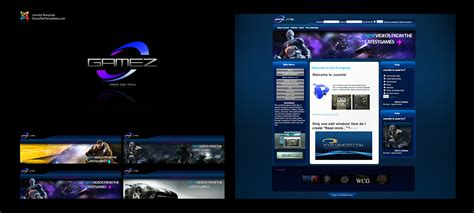 modern joomla templates modern gaming joomla template by karsten on deviantart