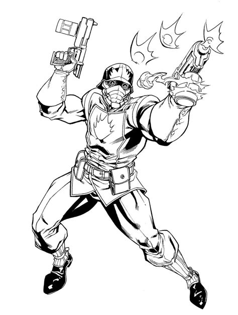 star lord coloring page starlord by robertatkins on deviantart
