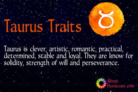 taurus traits personality and characteristics