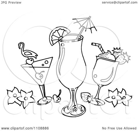 mixed drink clipart black and white clipart black and white tropical cocktail beverages