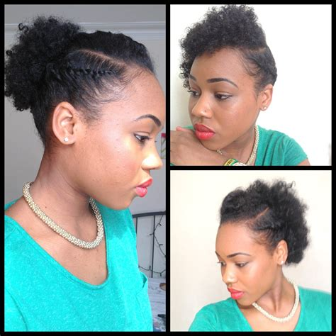 quick hairstyles for thick natural hair 32 3 quick easy style for short natural hair wash and