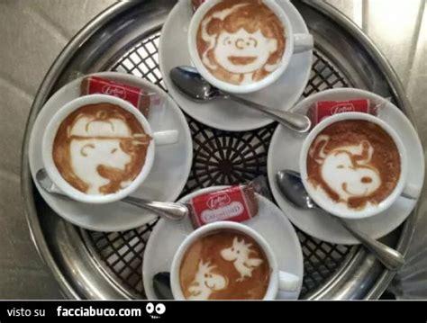 caffe personaggi caff 232 con i personaggi di snoopy facciabuco