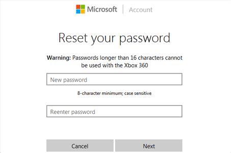 reset xbox online password 4 ways to reset windows live id forgotten password