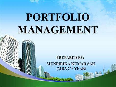 Wtamu Mba Portfolio Pdf by Portfolio Management Authorstream