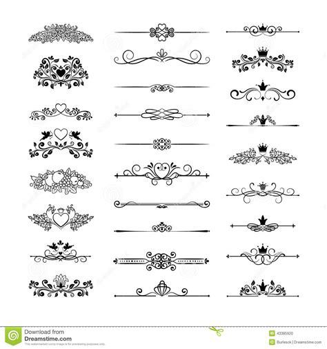 page decor with crowns stock vector image 43385920