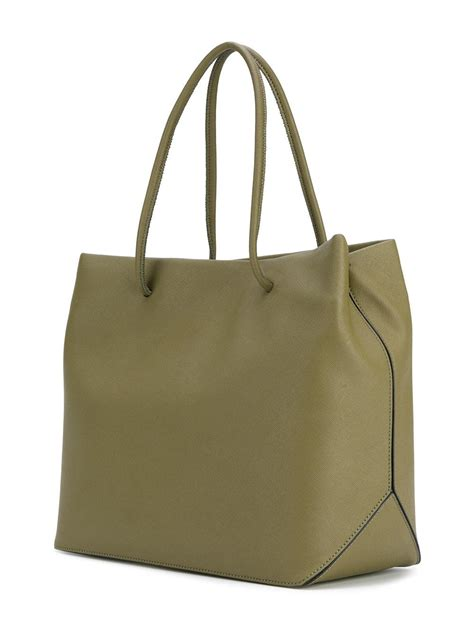 Purse Deal Marc Leather Shopper Tote by Lyst Marc Tote Logo Shopper Bag In Green