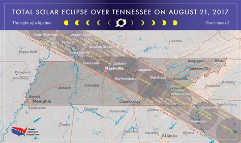 eclipse 2017 map 2017 total solar eclipse in tennessee