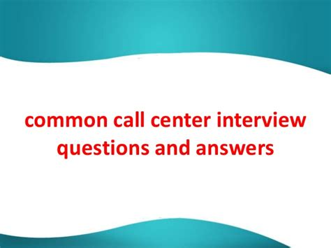 call center questions myideasbedroom