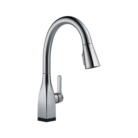 shop delta mateo touch2o chrome 1 handle pull down touch 9183t ar dst mateo single handle pull down kitchen faucet