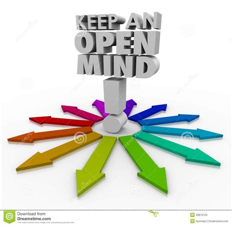 different ideas keep an open mind 3d words accepting new ideas non