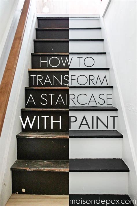25 best ideas about black painted stairs on paint stairs painted wood stairs and