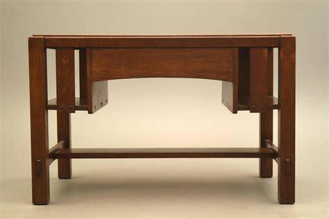 charles limbert arts and crafts library table desk circa