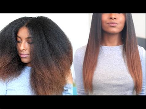 how i straighten trim my natural hair naturalneiicey youtube