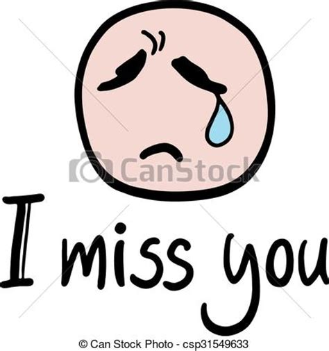 miss you clip vectors of i miss you message creative design of i miss