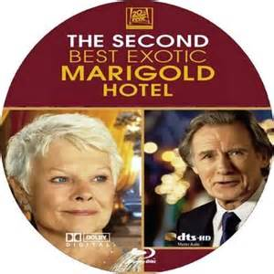 The second best exotic marigold hotel 2015 r blu ray disc cover