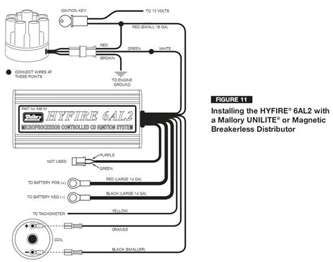 mallory 42series wiring wire diagrams easy simple detail