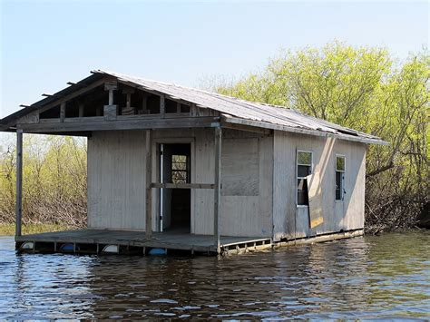 panoramio photo of floating cabin on the river floats