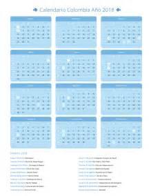 Calendario 2018 Colombia Pdf Calendario Colombia A 241 O 2018 Feriados