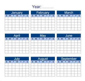 Yearly Calendar Template Word by Yearly Calendar Template 7 Premiuim And Free