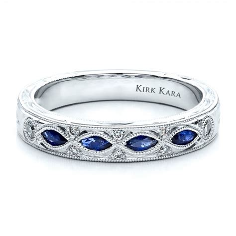 Wedding Rings With Sapphires sapphire wedding band with matching engagement ring kirk
