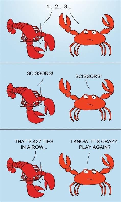 Crab Scissors Meme - idiot complex lobster vs crab